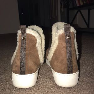 Micheal Kors furry ankle boot